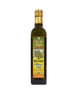 De La Rosa Kosher Organic Italian Extra Virgin Olive Oil - 16.9 oz-500 ml