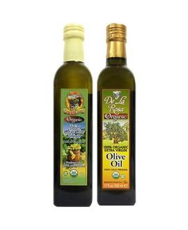 De La Rosa Kosher Organic Italian White Wine Vinegar & Kosher Organic EVOO 16.9 oz each